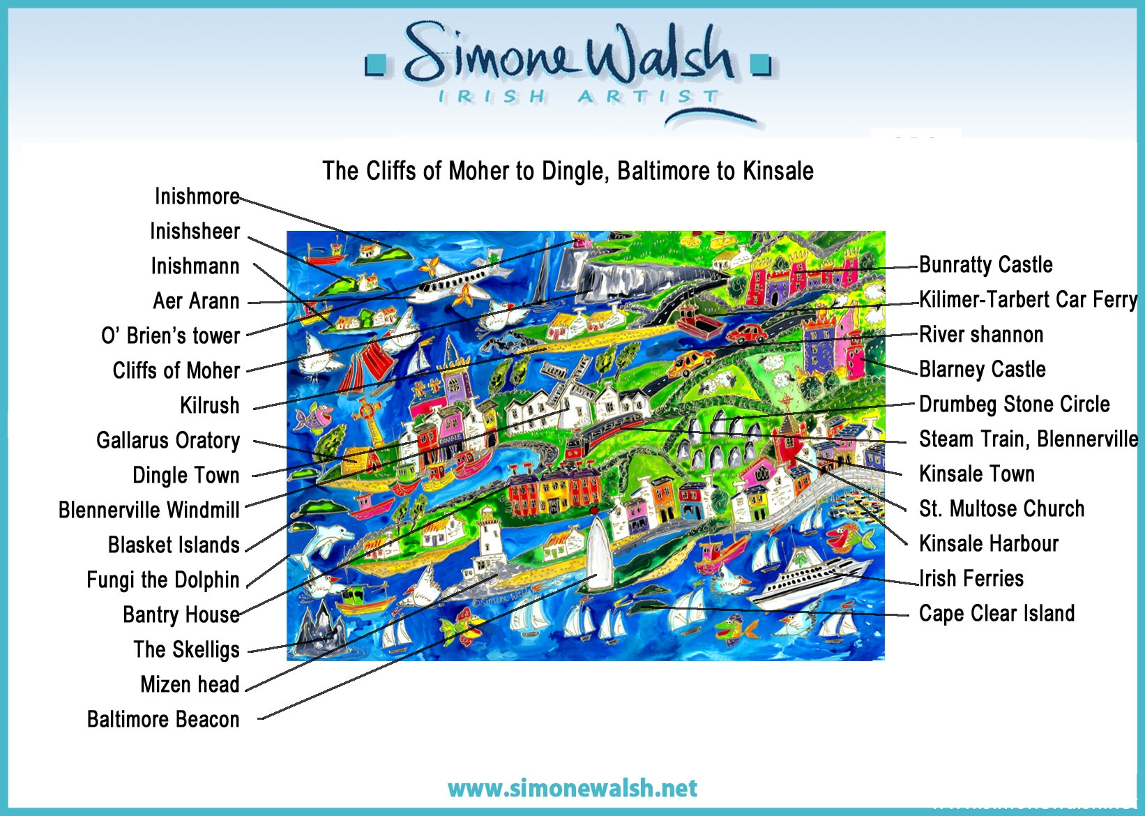 The Cliffs Of Moher To Dingle Baltimore To Kinsale Simone Walsh