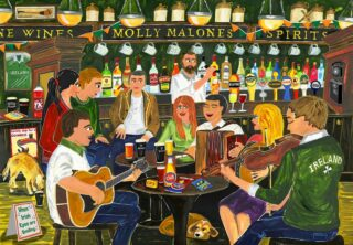 Bring the Local HOME this Christmas Looking for a personalised gift this year? You can't beat the atmosphere of an Irish Pub and this year you can bring the Craic agus Ceol to a loved one. Whether they are celebrating Christmas home or abroad, bring your friends and family safely together through personalisation in this iconic print. Just tell us the name of your Local, which County Jersey you want in the glass case behind the bar and we will create this bespoke gift just for you. Print is available framed or mounted with prices starting from €49.99. Visit the link in our bio to start personalising