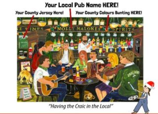 This Christmas we will all miss our local pub. To celebrate the launch of my new personalised pub print we are offering you 20% off this print for today and tomorrow only. You can add the name of your local, county colours and county jersey to make it totally unique. Simply quote PUB20 at check-out. https://www.simonewalsh.net/product-category/prints/irish-pubs-personalise/ #simonewalshartist #irishart #irishmade